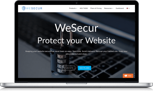 Malware cleaning with WeSecur