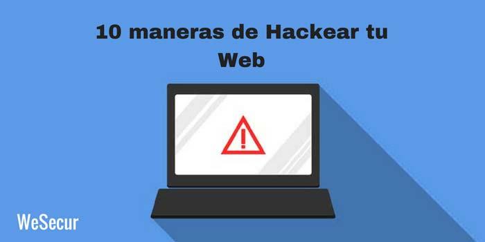 10 maneras hackear web